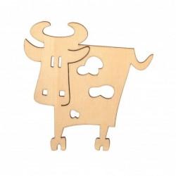Krowa ze sklejki 10 cm