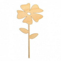 Kwiatek na piku ze sklejki...