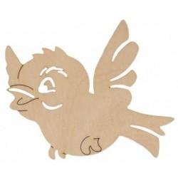 Ptaszek ze sklejki 10 cm