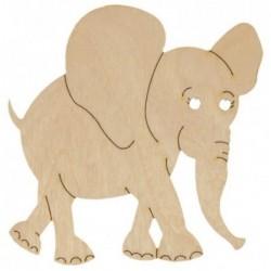 Słoń ze sklejki 10 cm