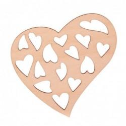 Serce z sercami ze sklejki...
