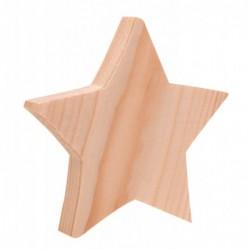 Gwiazda z drewna 14,5cm