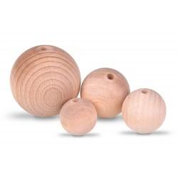 Korale drewniane surowe...