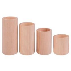 Świeczniki drewniane...