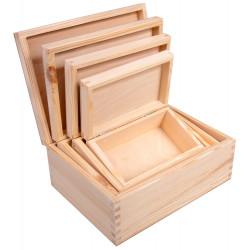 Drewniane pudełko 4w1...