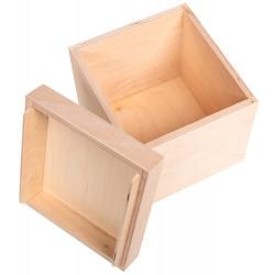 Drewniane pudełko na bombke...