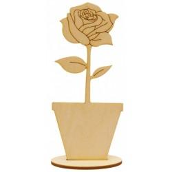 Róża na podstawce ze...